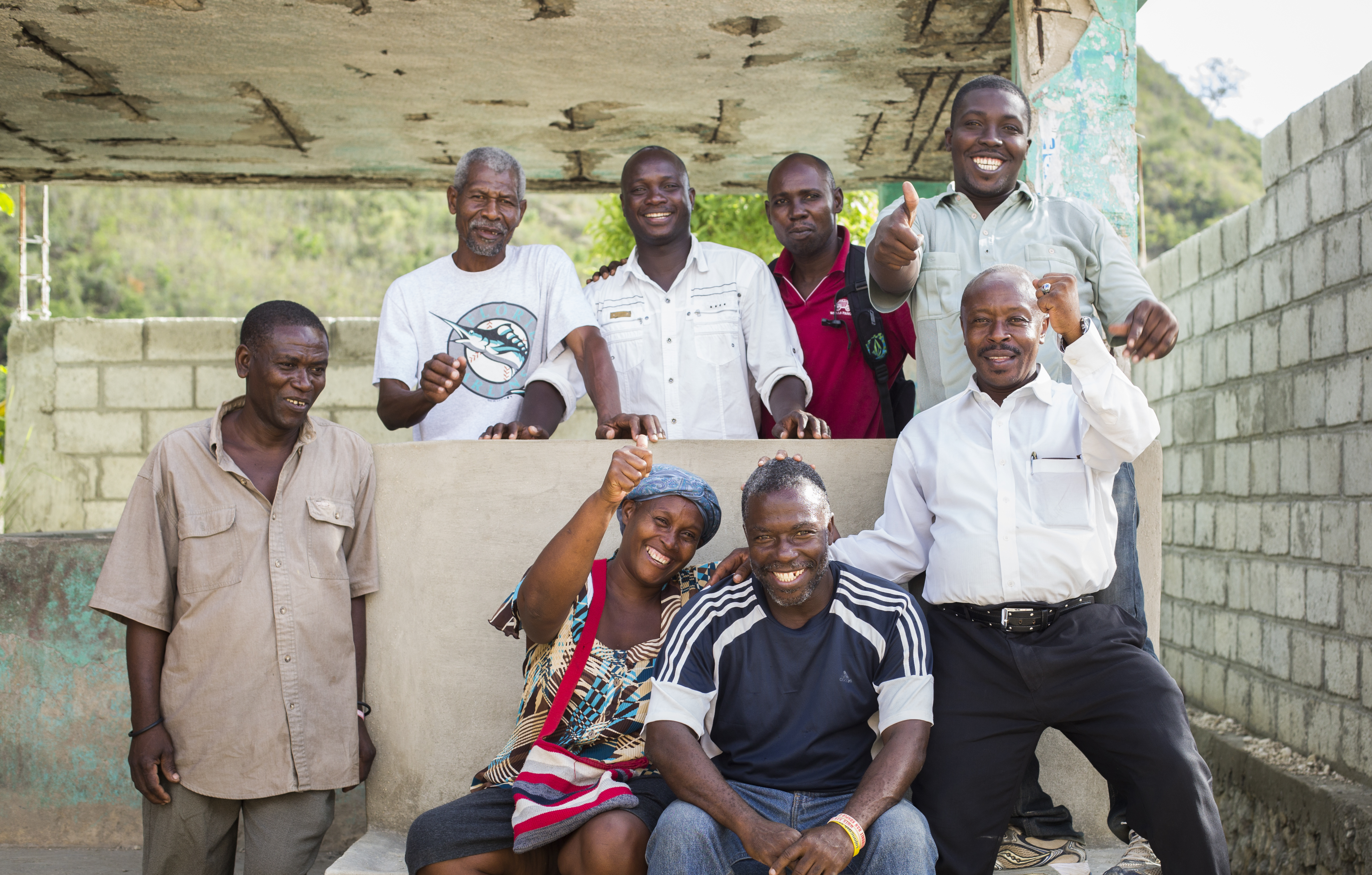 The 410 Bridge Leadership Council of Camp Marie, Haiti