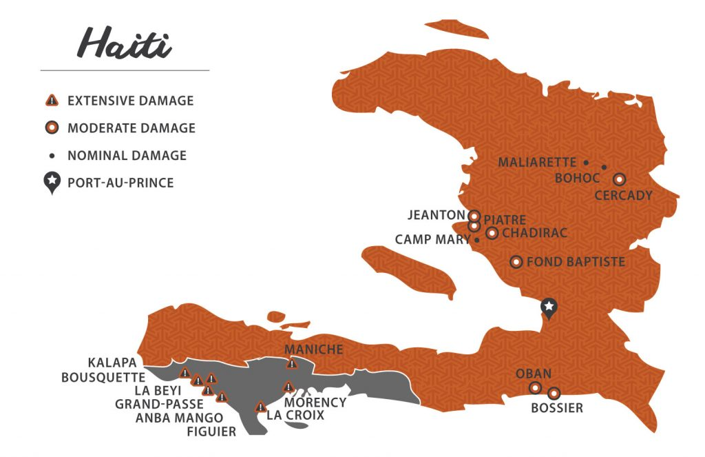410 Bridge communities in Haiti.