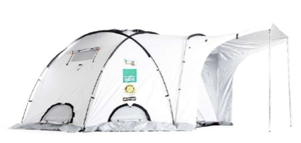 We'll use ShelterBox tents, like this one, as classrooms.