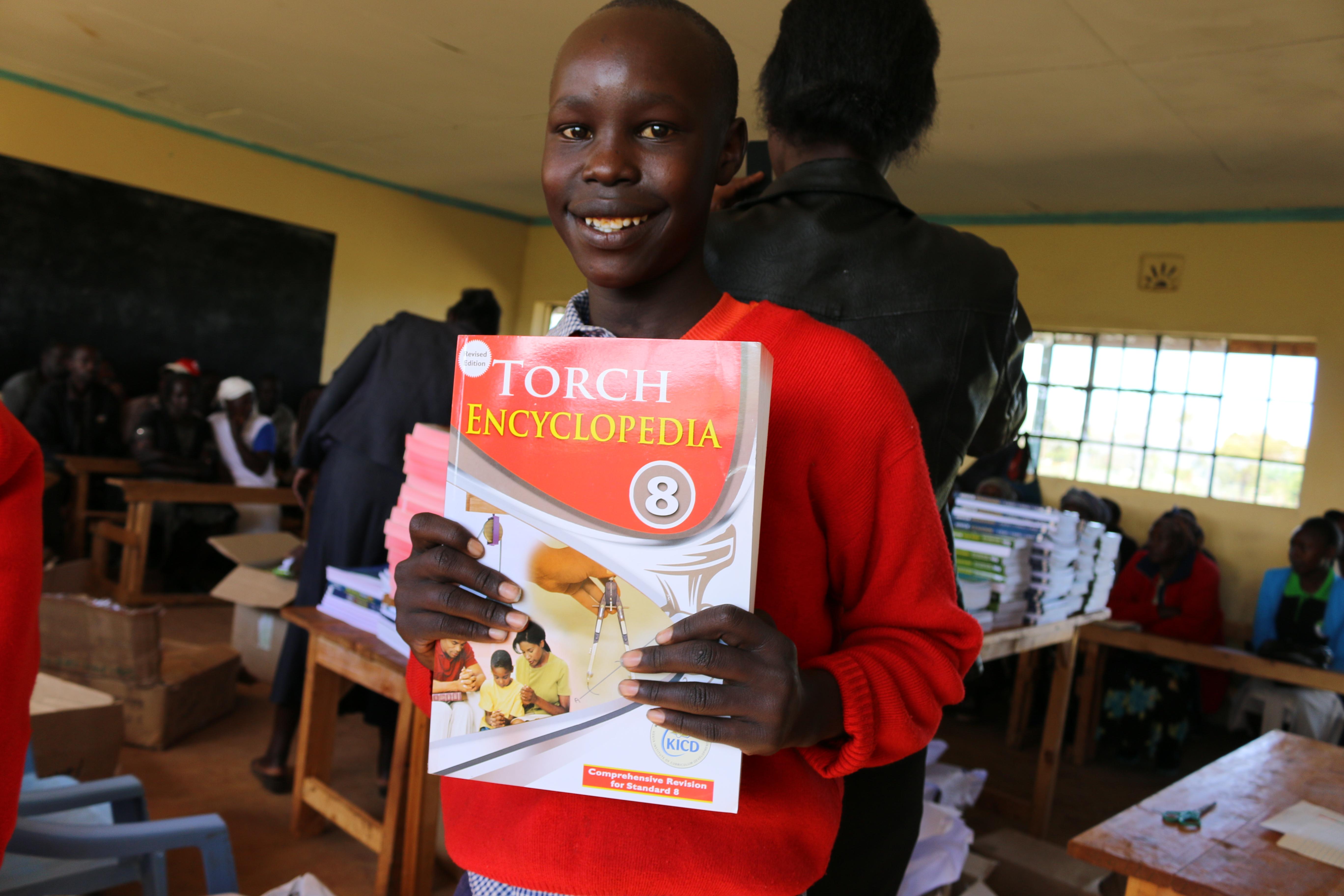 Class 8 Receives Text Books!