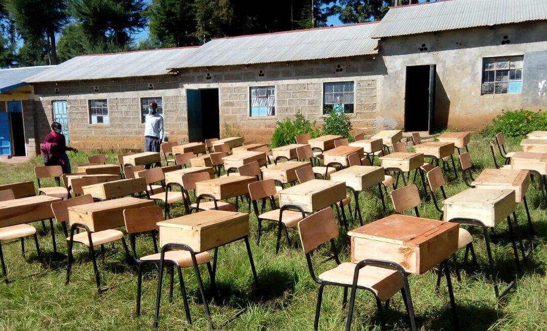 New Desks for a bigger Mekaro Primary School!