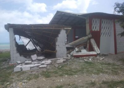 House destroyed in earthquake